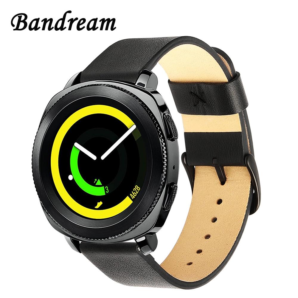 Genuine Leather Watchband 20mm for Samsung Gear Sport Garmin Vivoactive 3 Ticwatch 2/E Quick Release Watch Band Wrist Strap Belt все цены