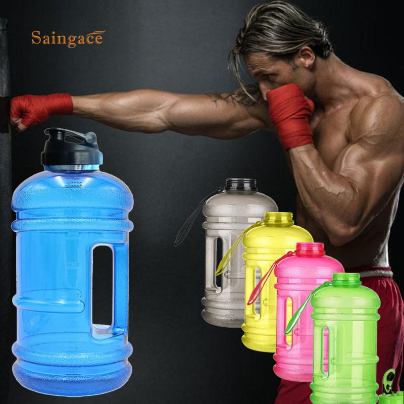Saingace 2.2L Big Large Sports Water Bottle Gym Training Water Bottle For Outdoor Portable Shaker Sports Bottle BPA Free 1PC 1PC