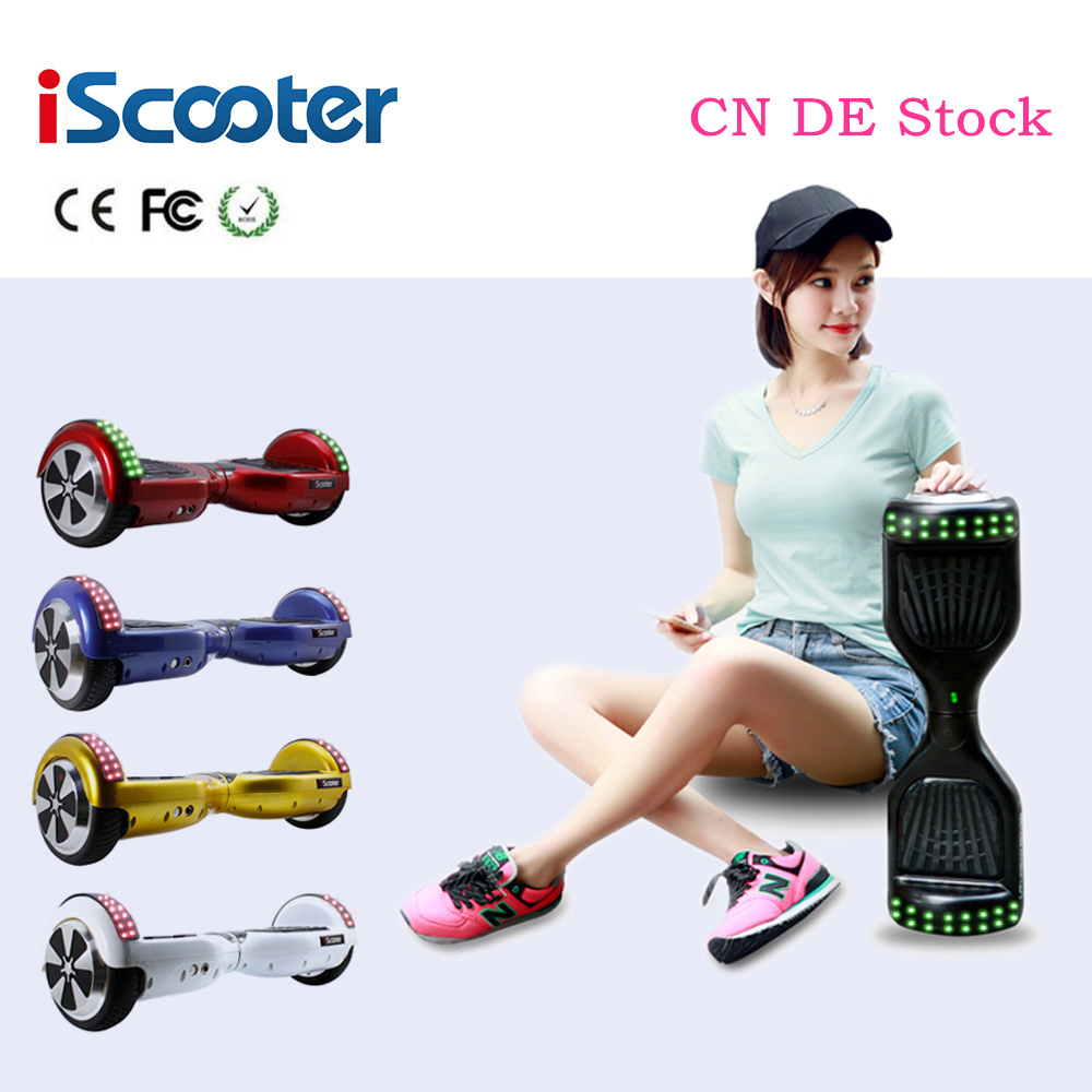 Original IScooter Hoverboard 2 Wheel Smart Balance Electric Scooter Self Balancing Skateboard Led Hover Board