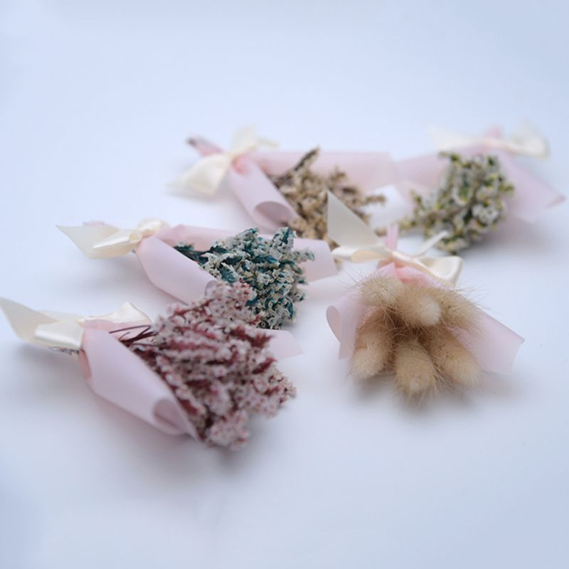 1PC 12cm Mini Flowers Glass Dried Flower For Wedding Home Decoration Photo Props DIY Craft Gifts