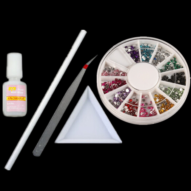 Set Nail Art Craft Tools Crystal Rhinestones Gems Picking Pen Pick ...