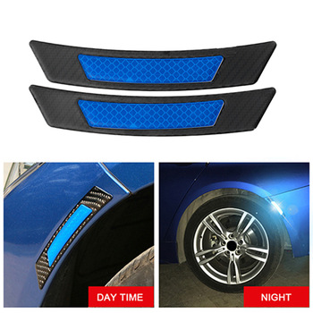 Carbon Fiber Protection Reflective Guard Sticker Wheel Eyebrow Car Reflective Stickers for BMW Volkswagen Mazda Audi image