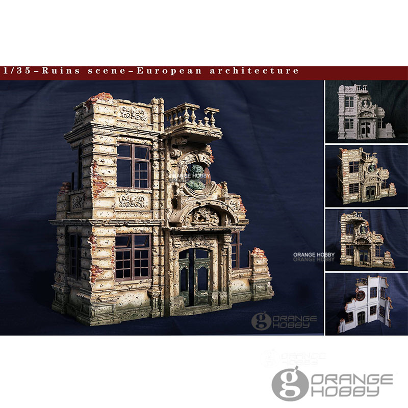 OHS CrazyKing DY35003 1/35 Ruins Scene European Architecture 3rd Ver. Assembly Resin Miniatures Accessories Model Kits oh цена