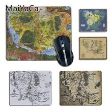 Lord of the rings MaiYaCa middle earth mapa Conforto pequeno Mouse Pad Gamer Mouse pad DIY Luxo High-end protetor gaming mousepad(China)