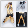 Kids Adults loose Harem Hip Hop Dance Pants casual Sweatpants Costumes female men unisex wear neon patchwork spliced jazz Pants