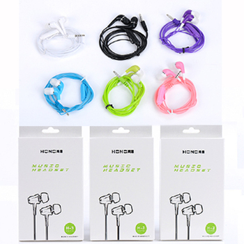 50PCS Wired headphone crystal line controls with the headset headphone with microphoneack with microphone and music universal