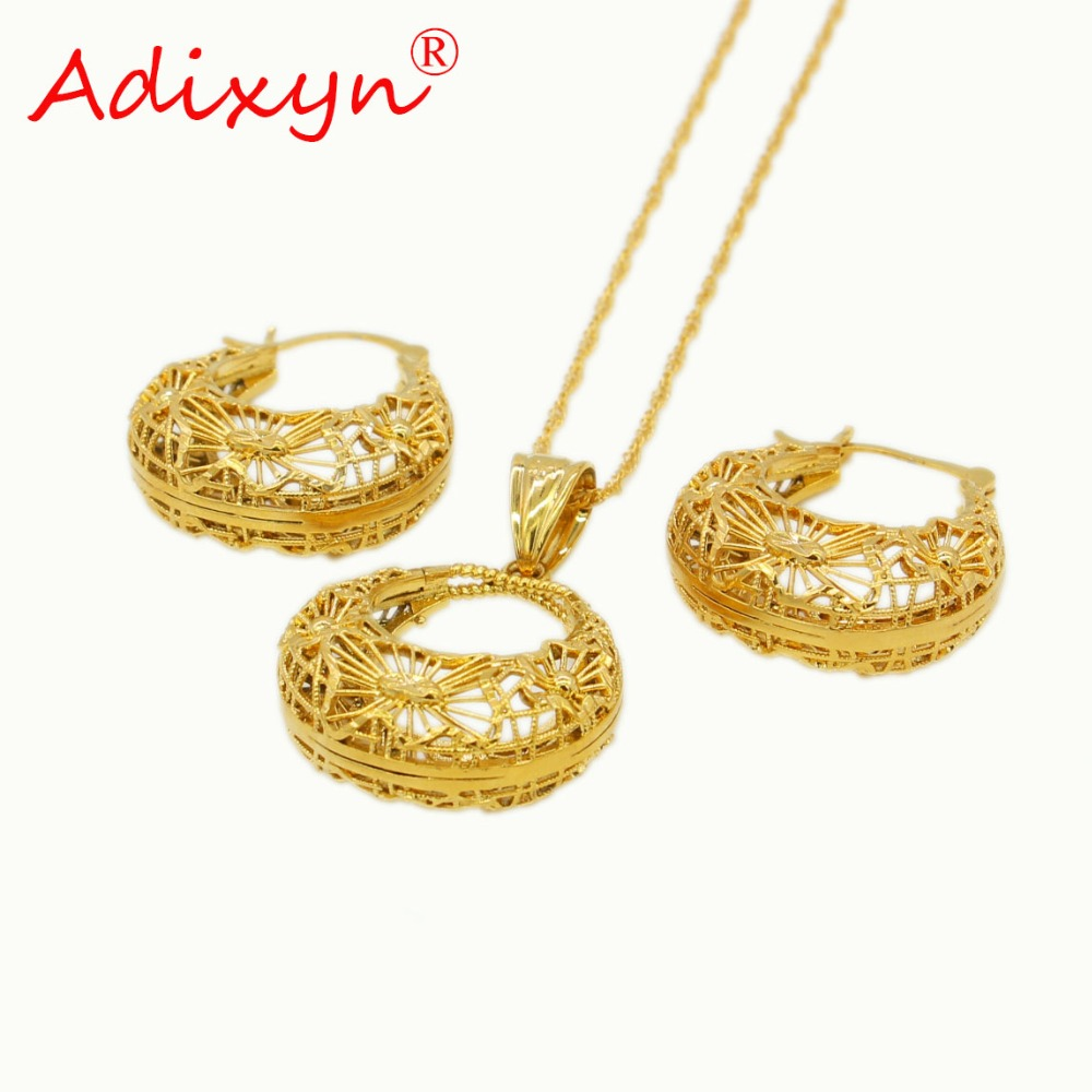 Adixyn Jewelry-Set African/ethiopian Gifts Necklace/pendant Ethnic Women PNG Copper