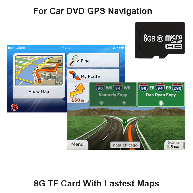 WinCE System 8GB Europe GPS Map Micro SD Card for Car DVD Player Touch Screen Portable Navigator High-quality Metal Plating Chip 5 0 touch screen wince 6 0 mtk3351 gps navigator w bluetooth fm 4gb tf card w europe map