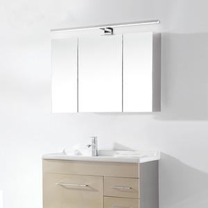 Image 3 - 2in1 linson 60cm 8 w 650lm ip44 ce rohs chromed led 욕실 거울 빛 벽 마운트 led 램프 led 캐비닛 빛