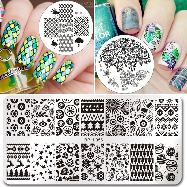 Born Pretty 1 Pcs Round Or Rectangle Nail Art Stamping Plate Diy