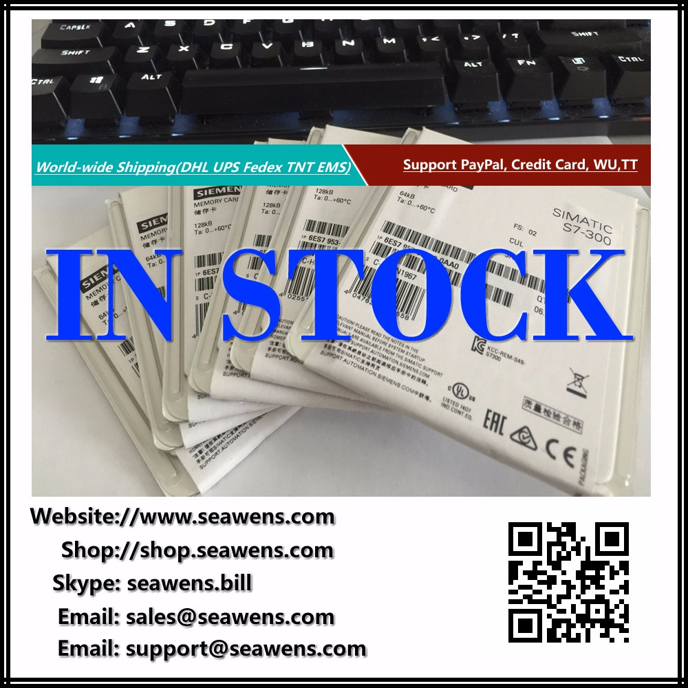 6ES7953-8LF31-0AA0 6ES7 953-8LF31-0AA0 SIMATIC S7, MICRO MEMORY CARD FOR S7-300/C7/ET 200, 3.3 V NFLASH, 64 KB, NEW IN BOX