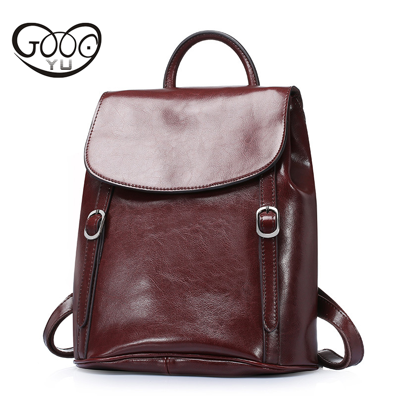 d3ff4d1c8b Real Leather Large Backpack Luxury Brands Natural Genuine Leather Backpacks  Cowhide Women Backpack Tote Bags Women Bag -in Backpacks from Luggage & Bags  on ...