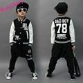 Happy Cherry Spring Autumn 4-9Y Children's Clothing Set Letter Print kids Sport Suits Hip Hop harem Pants  Baseball Jacket