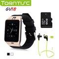 Torntisc multi-idioma bluetooth smart watch soporte gsm sim tf tarjeta de android 4.1 a 5.0 soporte telefónico g-sensor caculator
