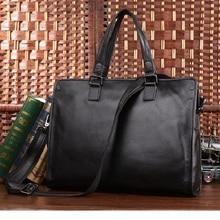 JMD 2016 New Arrival 100% Leather Briefcases Men's  Cow Leather Messenger Shoulder Bag Handbags Travel Bags 7185