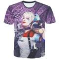Comando suicida de los hombres t shirt 3d Harley Quinn joker deadshot camiseta masculina Rick Flag mens camisas Boomerang comando Suicida