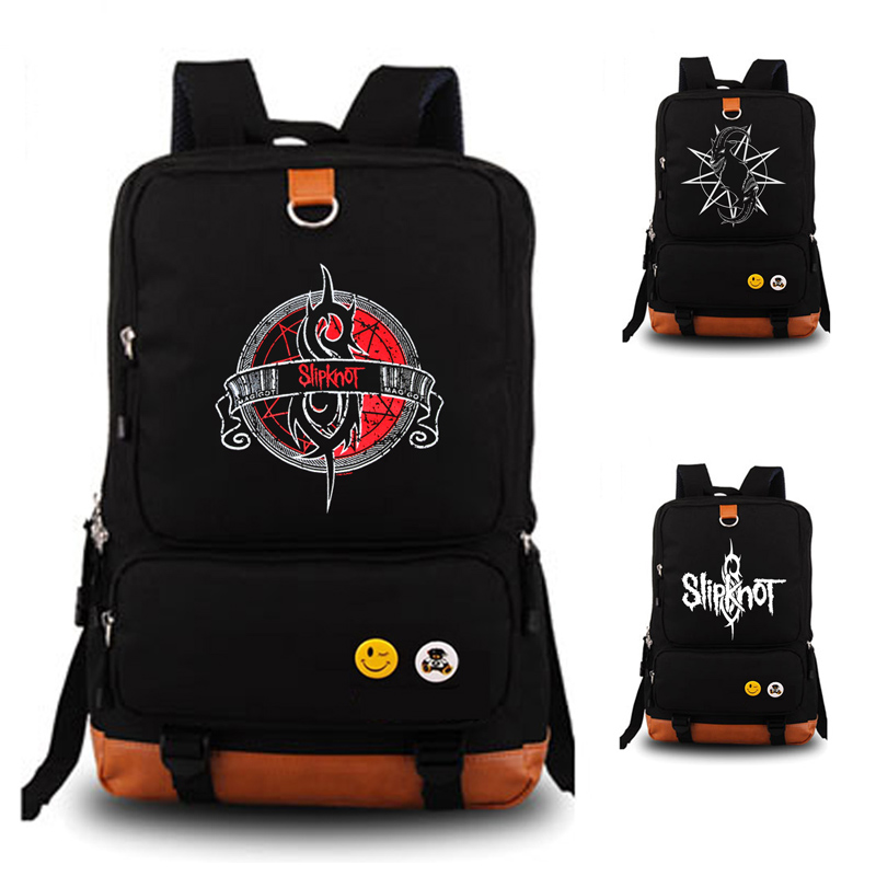 Slipknot Heavy metal band school bag Men women's backpack student school bag Notebook backpack Daily backpack unicorn dab backpack reflective school bag notebook backpack leisure daily backpack