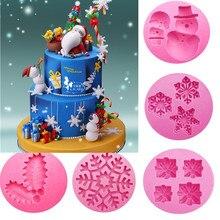 Рождественская серия форма силиконовая форма для торта, гибкая форма для выпечки для конфет, желе, шоколада, печенья, помадки, инструменты для украшения торта