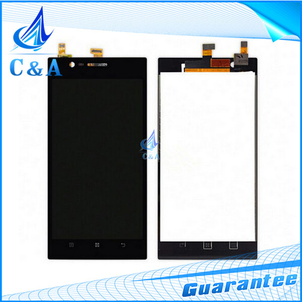 1 piece tested black free shipping replacement repair parts 5.5 inch screen for Lenovo K900 lcd display with touch digitizer
