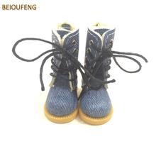 BEIOUFENG BJD кукольная обувь высокие сапоги для кукол, 3,8 см кроссовки для кукол аксессуары, Повседневная парусиновая обувь для куклы Blythe 6 пар