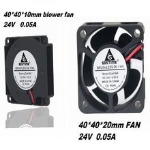 Gdstime product mix 1pcs 40mm x 20mm 24V Ball Bearing  DC Brushless Cooler and 10mm Mini 3D Printer Turbo blower fan