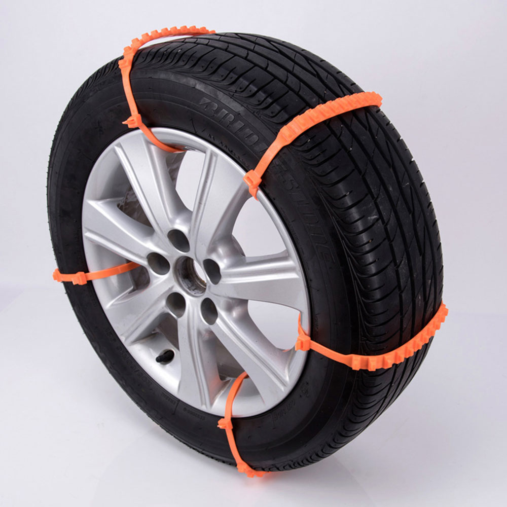 1 Pc Durable Snow Tire Belt Roadway Safety Emergency Snow Chain Thickened Climbing Mud Ground Anti-Skid Chains ...