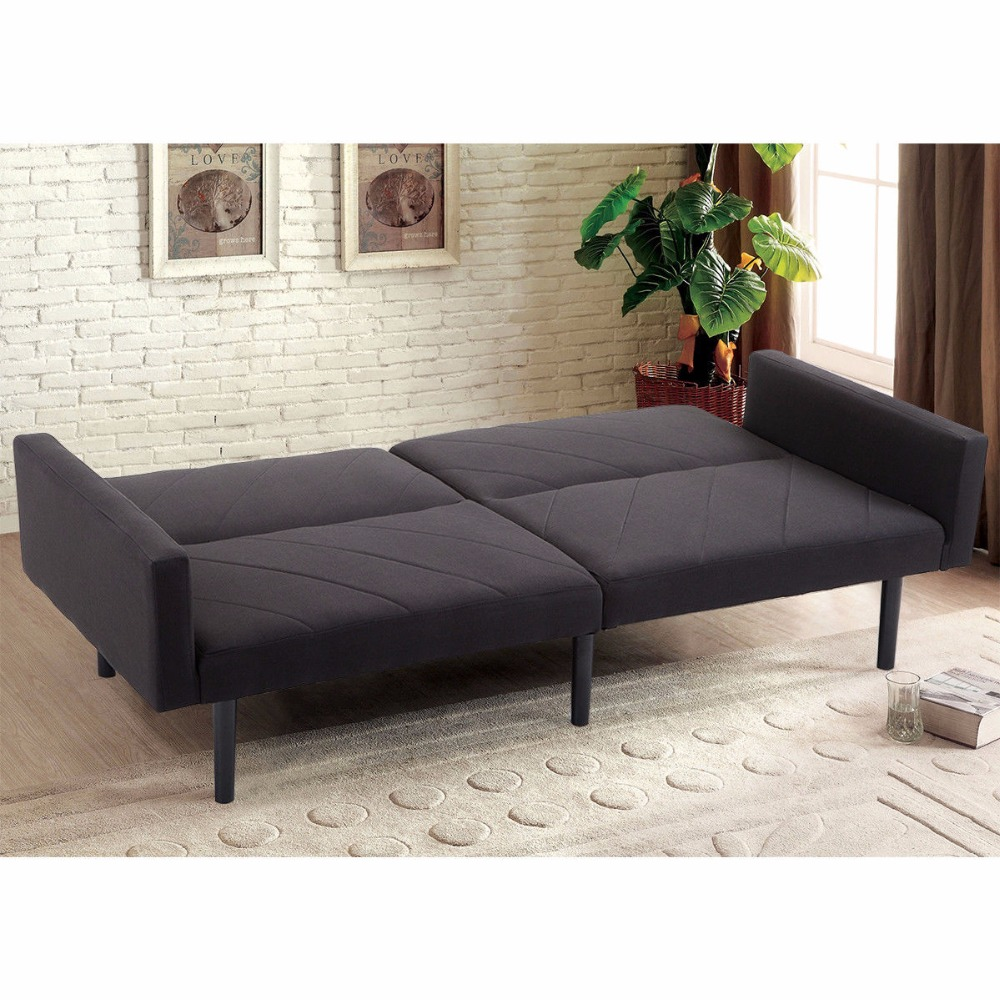 - Giantex Futon Sofa Bett Cabrio Liege Couch Splitback Sleeper Mit