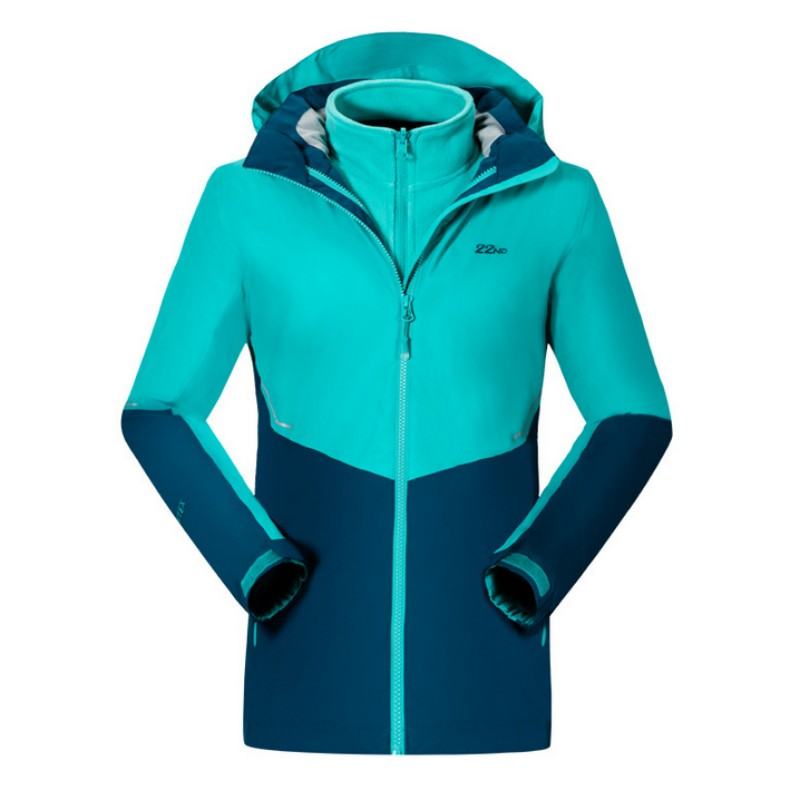 High Quality Winter Womens Windbreaker Fleece Warm Two Pieces Hooded Famale Jacket Windproof Hiking Ski Clothes For Fishing Coat стоимость