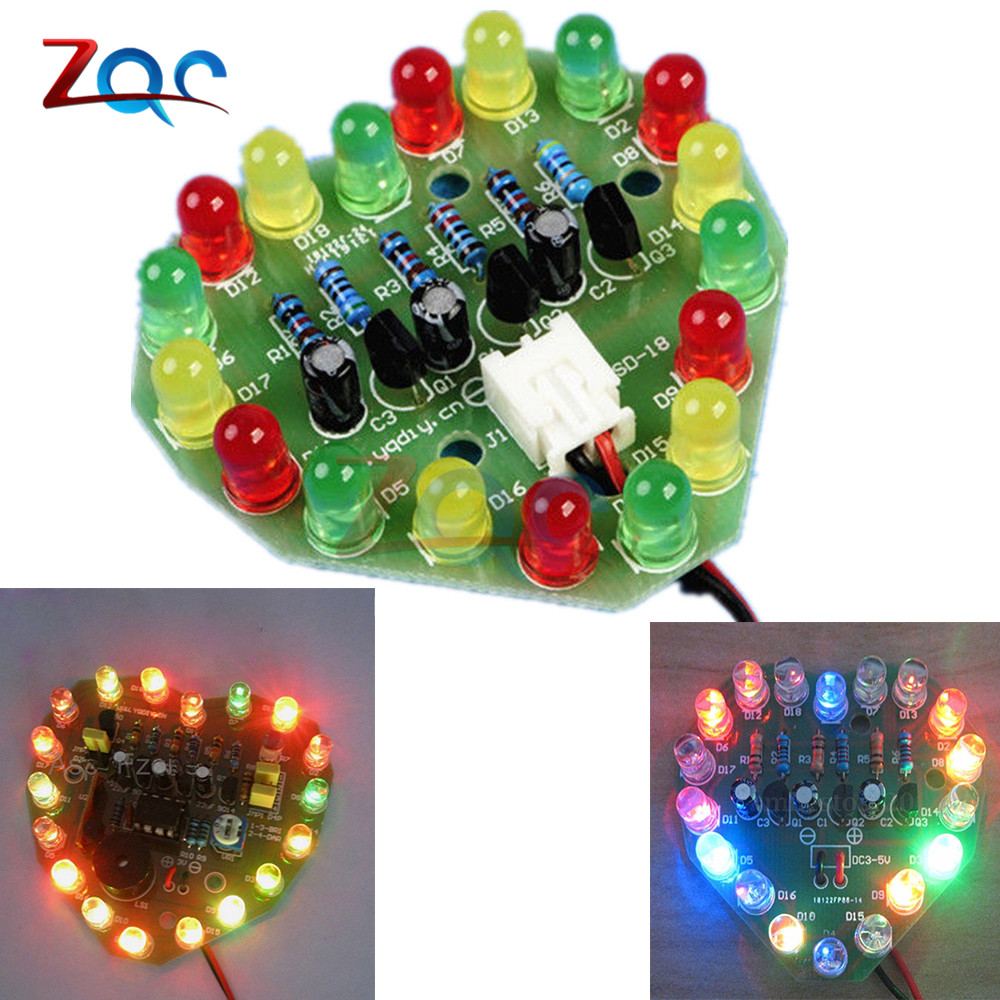 51mm Cycle Lamp Suite Breadboard Led Electronic Production Diy Kits Heart Shaped Delicious In Taste Tools 3v-5v Regulated Power Supply Pcb Board 48mm