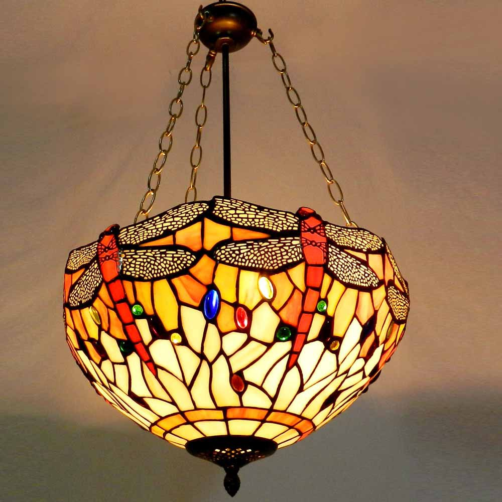 tiffany ceiling lamps fixture com dragonfly amazon lamp ceilings chloe light inch style pendant dp
