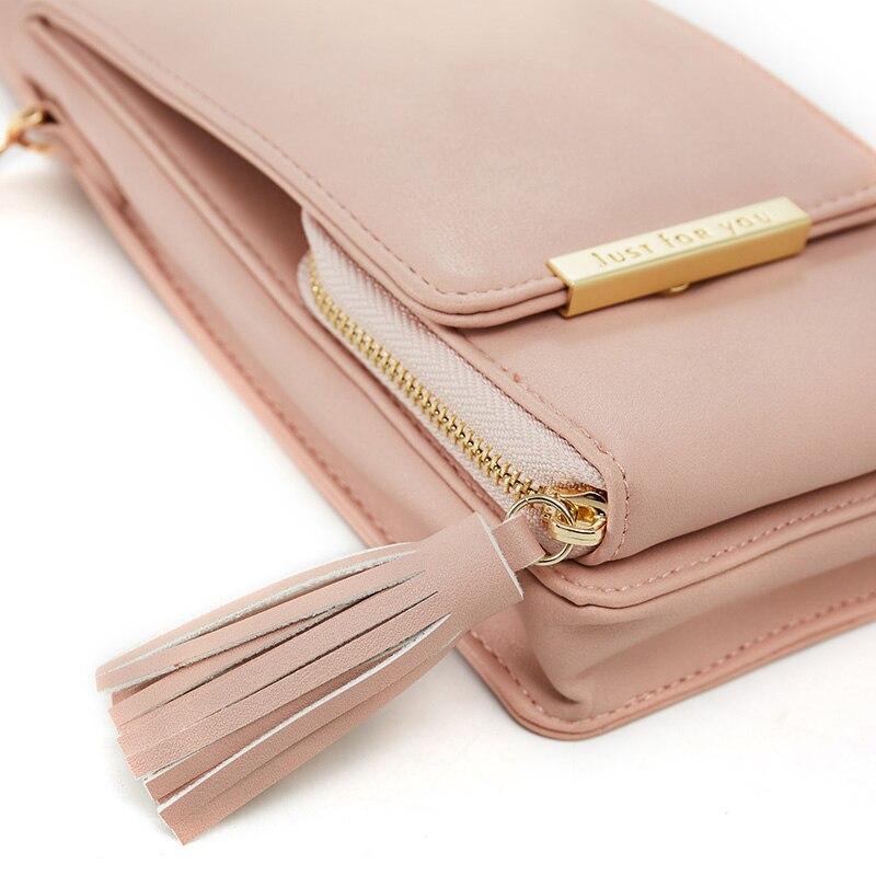 EYES IN LOVE Brand 2019 New Tassel Zipper Mini Shoulder Bags For Women Lady Messenger Phone Bag Card Holder Small Handbag Purses
