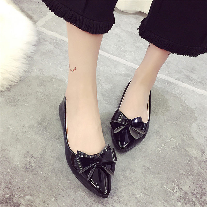 2017 Most Popular Fashion Bow Pointed Toe Women Flats Woman Flat Shoes Ballet Flats Ladies Women's Flats Proxy Purchase A8 drfargo spring summer ladies shoes ballet flats women flat shoes woman ballerinas pointed toe sapato womens waved edge loafer