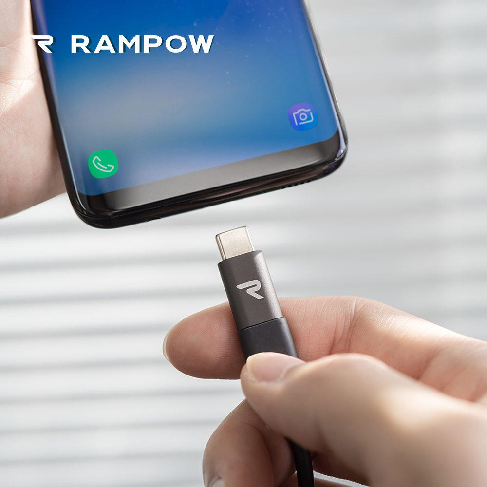 RAMPOW Mini Micro USB C Adapter Reversible USB Type C to Micro USB Adapter Data Transfer Converter for Samsung S9 for Xiaomi 8