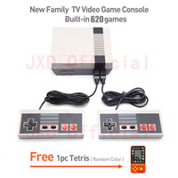 New Family TV Video Games Consoles Player Retro Game Console Classic Built-in 620 Classic Games Two Game Controller Pal Ntsc