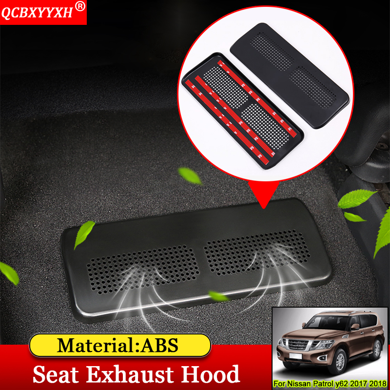 QCBXYYXH Car-styling ABS Car Front Seat Exhaust Hood Auto Interior Decoration Auto Accessories For Nissan Patrol y62 2017 2018 цена