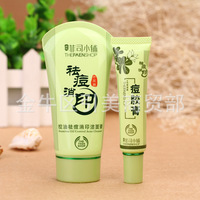 New Acne Spot Pimple Treatment Natural Herbal Cream Makeup Facial Blackhead Cure With Seamless Oil Control Acne Cleaner Set