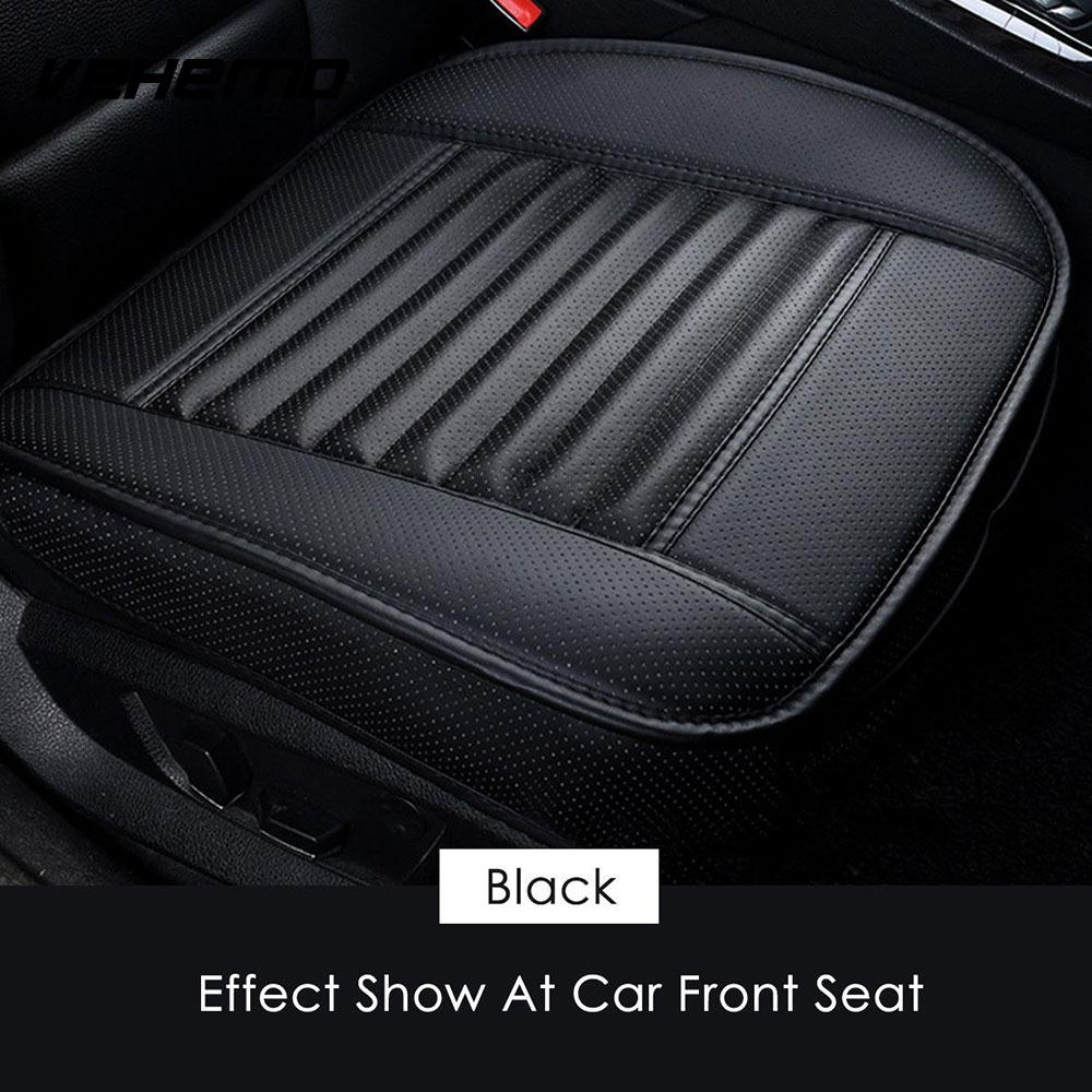 Vehemo Black PU Leather Pad Car Truck Parts Seat Cover Replacement Auto Chair Cushion Black Pad Keep Practical