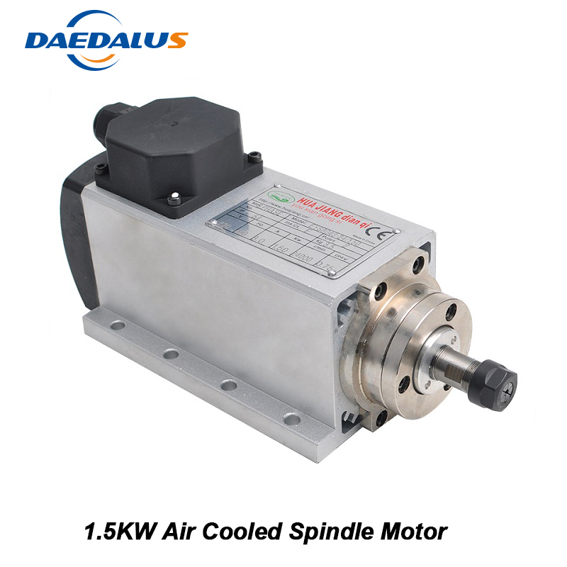 CNC Router Spindle 1.5KW Air Cooled Spindle Motor 220V 110V Square Router Tools For Drilling Milling Machine EngravingCNC Router Spindle 1.5KW Air Cooled Spindle Motor 220V 110V Square Router Tools For Drilling Milling Machine Engraving