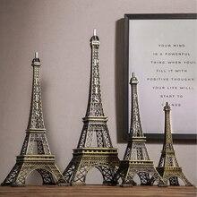 Torre francesa de París, modelo de arquitectura, artículo decorativo, Retro, antiguo, Vintage, figura de artesanía, estatua, decoración del hogar