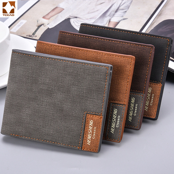 Billetera delgada para hombre, billetera retro para hombre, monedero pequeño de marca,...
