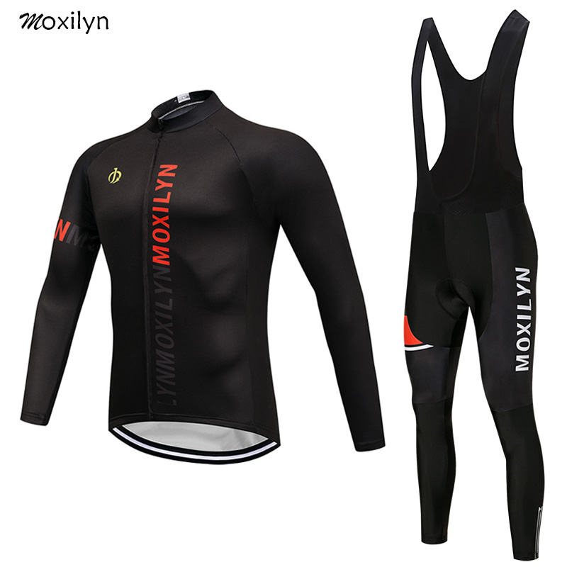 Cycling Jersey Set Winter Thermal Fleece Clothing MTB Bicycle Clothes Wear Maillot Ropa Ciclismo Men Cycling Bike Red Alphabet