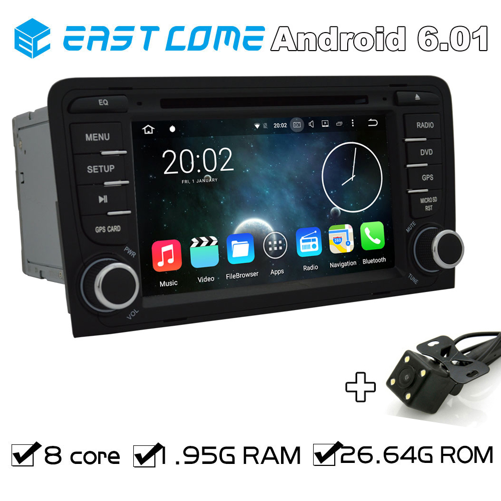Pure Android 6.01 Car DVD For AUDI A3 2003 2004 2005 206 2007 2008 2009 2010 2011 R3 RS3 With Octa core GPS Radio Backup Camera