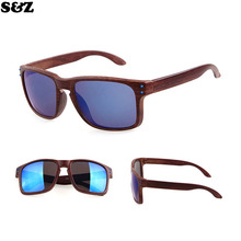 Hot selling Resemble Wood Sunglasses Men Sport Sun Glasses Reflective Eyewear Wooden Gafas De Sol Oculos De Sol Feminino