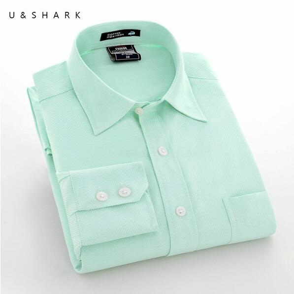 2016 New Arrival Men Long Sleeve Dress Shirt Plus Size Men Blue Office Shirt High Quality Breathable Cotton Work Shirt Male