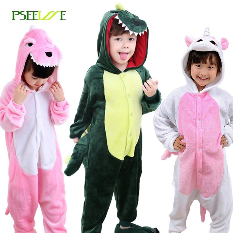 Children's Onesie Cosplay Kids Boys Girls Pajamas Christmas Totoro unicorn Pikachu Dinosaur Panda pyjama Animal Baby Sleepwear