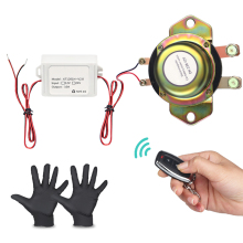 цена на 12V Car Battery Switch Isolator With Remote Control Electromagnetic Solenoid Disconnect Power Terminal Battery Isolator + Gloves