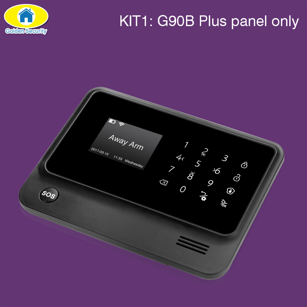 Image 2 - Golden Security G90B Plus SIM GSM Home Burglar Security APP Remote Control WIFI GSM Alarm System Wireless EN RU ES FR TUR Voice-in Alarm System Kits from Security & Protection