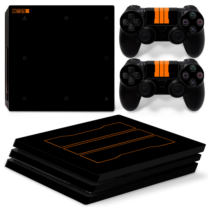 OSTSTICKER Black C and D For Sony PS4 Pro For Playstation 4 Pro Vinyl Skin Sticker Cover Decal