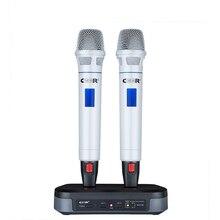 Ceer BLX-88 Металл LED Ракетно 2 канала различные частоты UHF Ручной Беспроводной микрофон Системы для сцены караоке