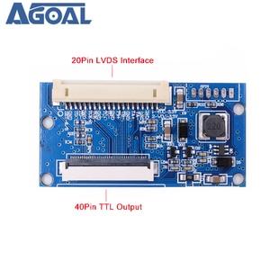 Image 2 - LVDS 1ch 8bit S8 DF14   20Pin Tiếp 40Pin TTL Tín Hiệu Màn Hình LCD T Con Tàu Chuyển Đổi Ban 7 10.1 Inch 1024X768 Bảng Điều Khiển